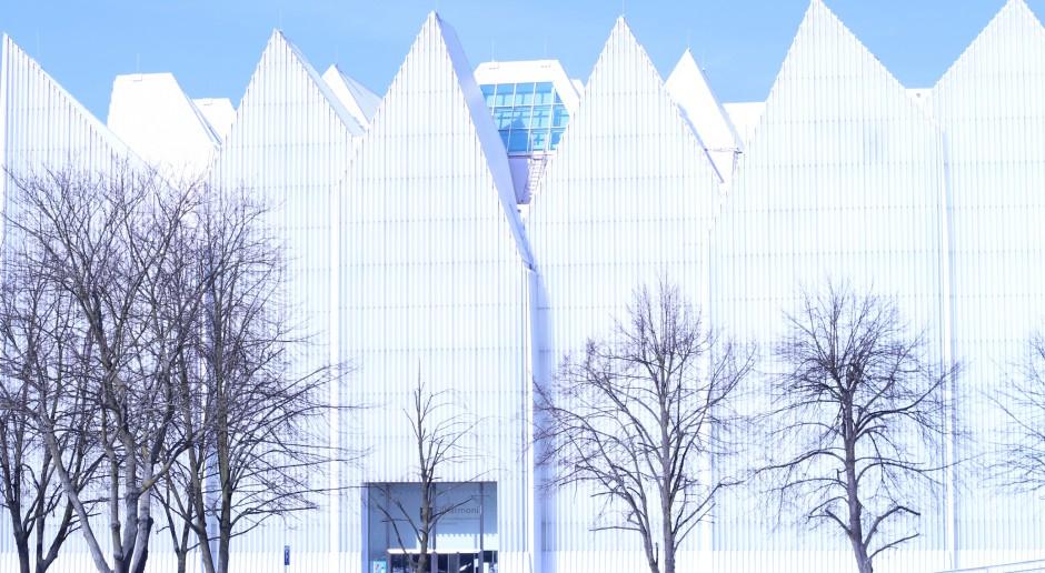 Wnętrze Filharmonii w Szczecinie przypomina futurystyczne origami