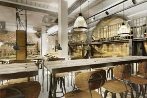 Restauracja w stylu industrialnym od Grycaj Design