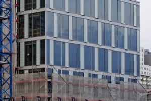 Prime Corporate Center projektu Epstein i SCB ma już połowę elewacji
