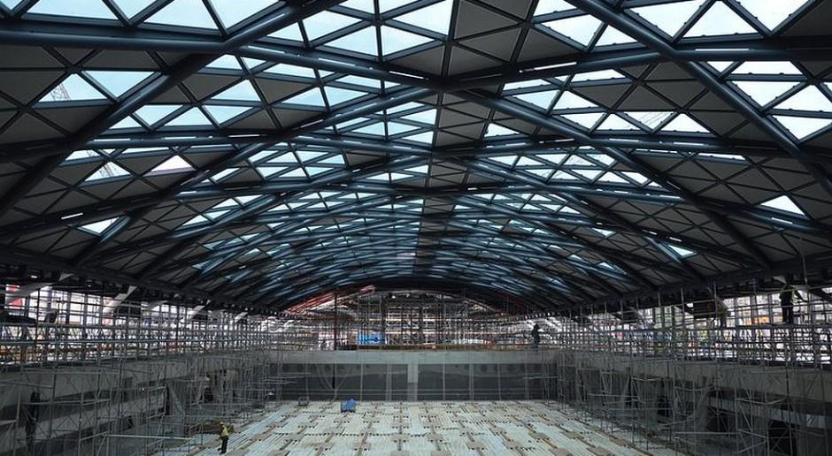 Szklane dachy dworca Łódź Fabryczna