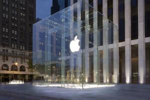 Szklany sklep Apple przy Fifth Avenue