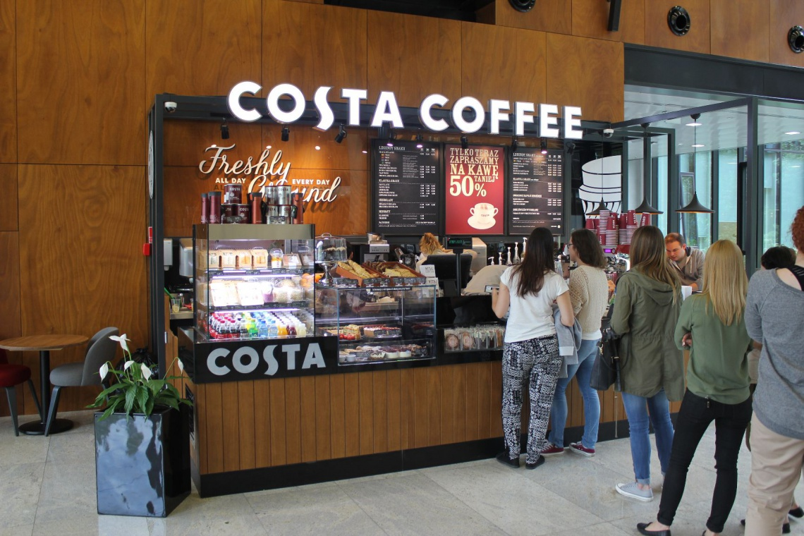 Nowa kawiarnia Costa Coffee na Mokotowie w Konstruktorska Business Center