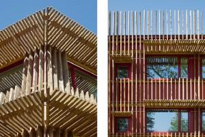 Hotel z drewna w szwedzkich lasach