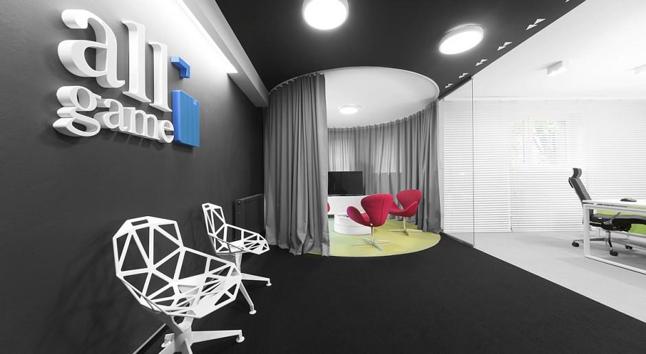 Futurystyczne biuro firmy AllGame