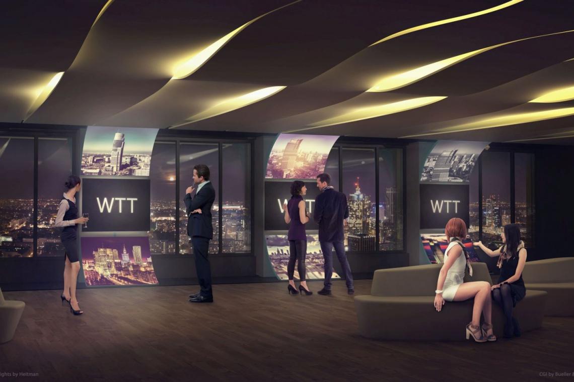 Na 35. piętrze Warsaw Trade Center powstaje niebanalna przestrzeń