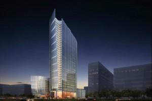 Biurowa wieża na starcie
