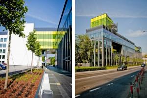 Centrum Energetyki AGH - czerń przełamana żołtymi detalami
