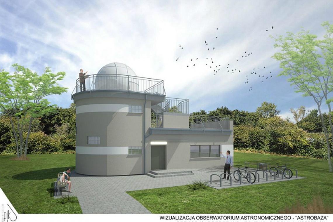 Trwa budowa astrobazy w Radomiu