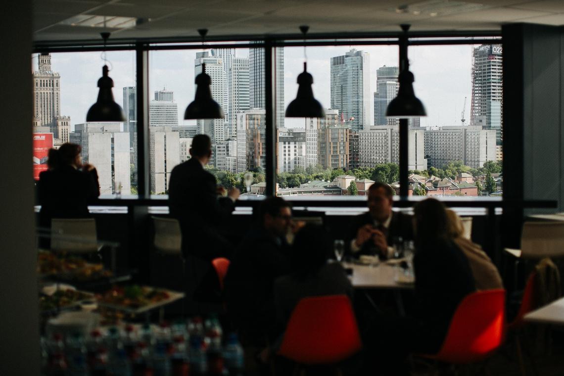 Zdjęcia z wnętrza Błękitnego Wieżowca