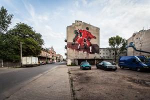 Oryginalny mural powstał w Warszawie