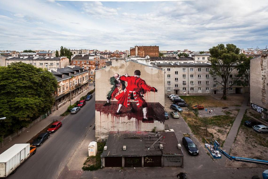 Awantura o mural w Warszawie, bo promuje przemoc