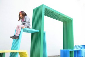 Iloczyny - niekonwencjonalny mebel miejski od Izabeli Bołoz