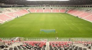 Zobacz stadion Tychy nocą z lotu ptaka