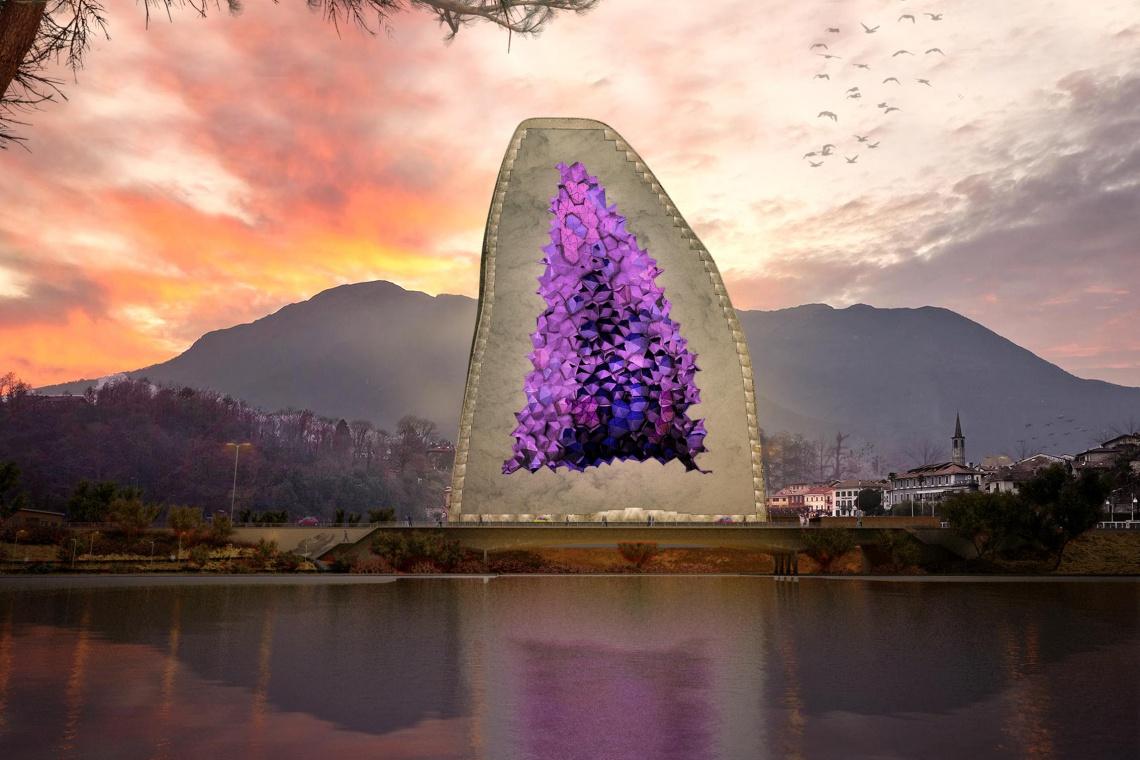 NL Architects zaprojektowali Amethyst Hotel w Chinach