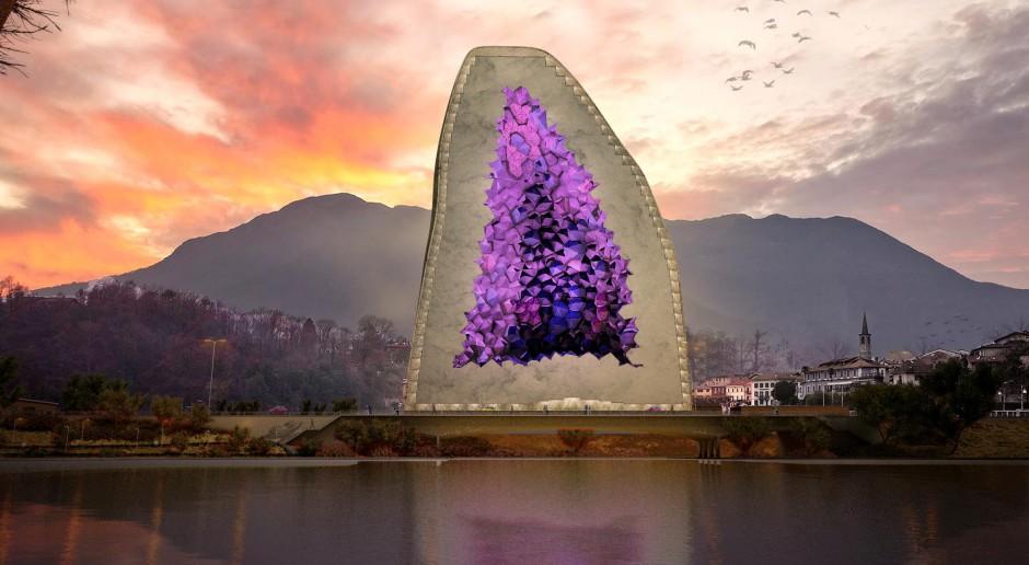 Hotel o wyglądzie ametystu - szalona wizja architektów z NL Architects?