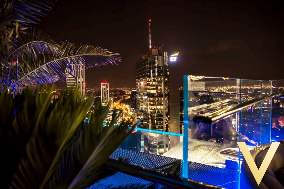 Nocny klub The View na dachu Spektrum Tower projektu Extract Design