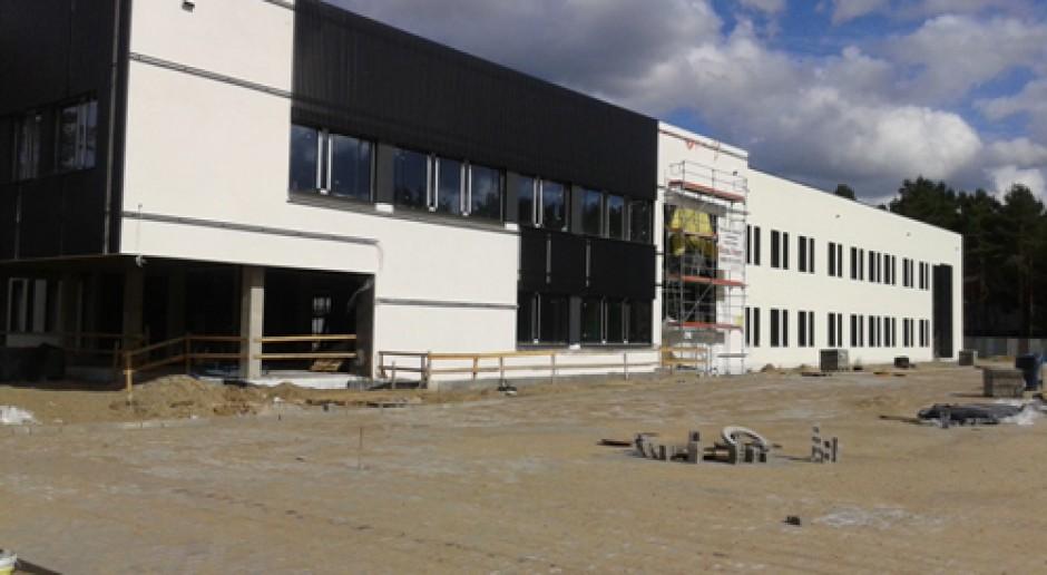 Trwają prace przy elewacji Centrum Onkologii w Bydgoszczy