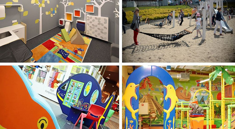 TOP 7 kolorowych stref zabaw w galeriach handlowych