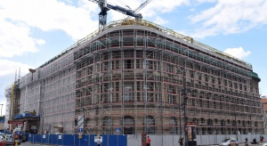 Trwają prace konserwatorskie na elewacji Hotelu Europejskiego