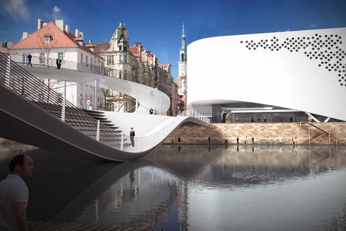 Futurystyczny Pawilon Wody, czyli most pieszy według koncepcji mode:liny