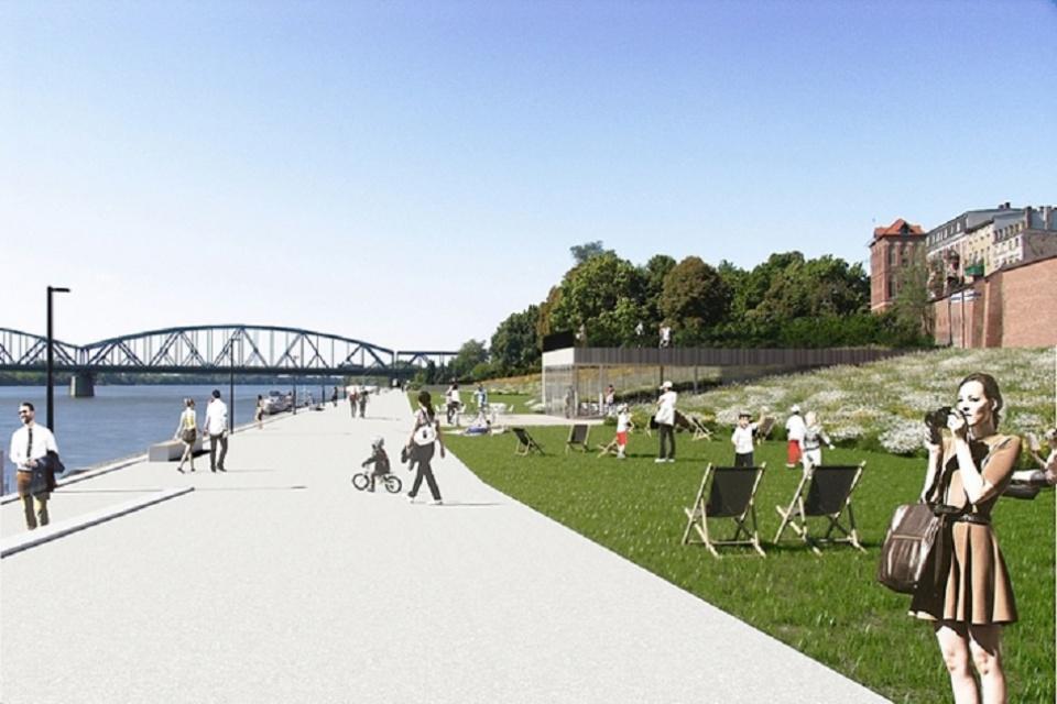 Riegler Riewe Architekci pracują nad projektem Bulwaru Filadelfijskiego w Toruniu