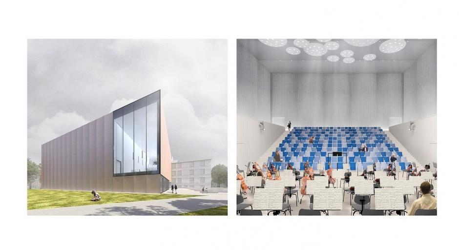Projekt nowej sali koncertowej w Rybniku. Jest szansa na dofinansowanie z UE