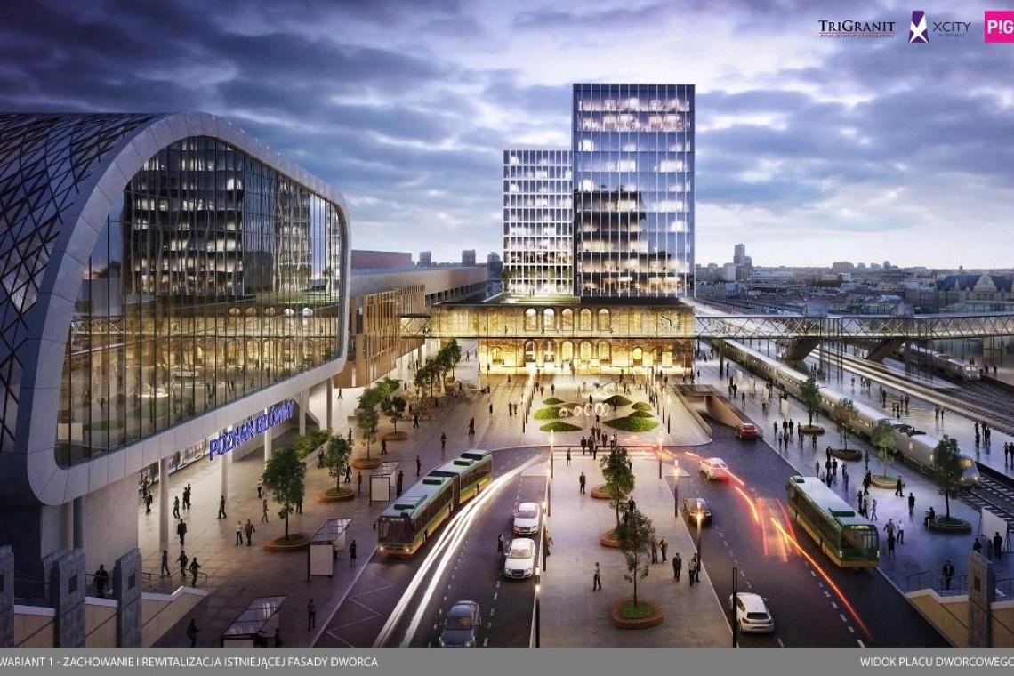 Nowy pomysł na teren po dawnym dworcu Poznań Główny. To projekt PIG Architekci
