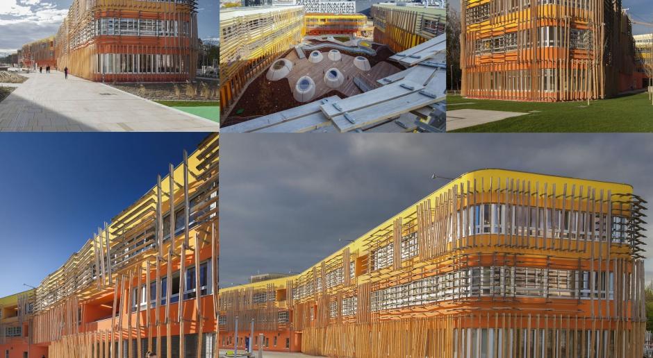 Ta słoneczna fasada rozświetla szare wiedeńskie niebo - projekt CRAB Studio
