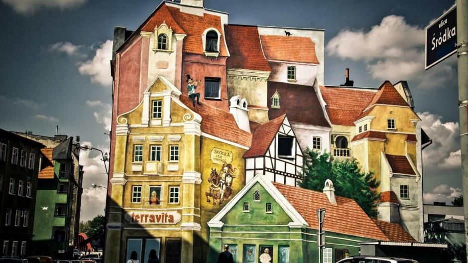 Efektowny mural w 3d powsta w poznaniu przestrze publiczna for Mural na tamie w solinie