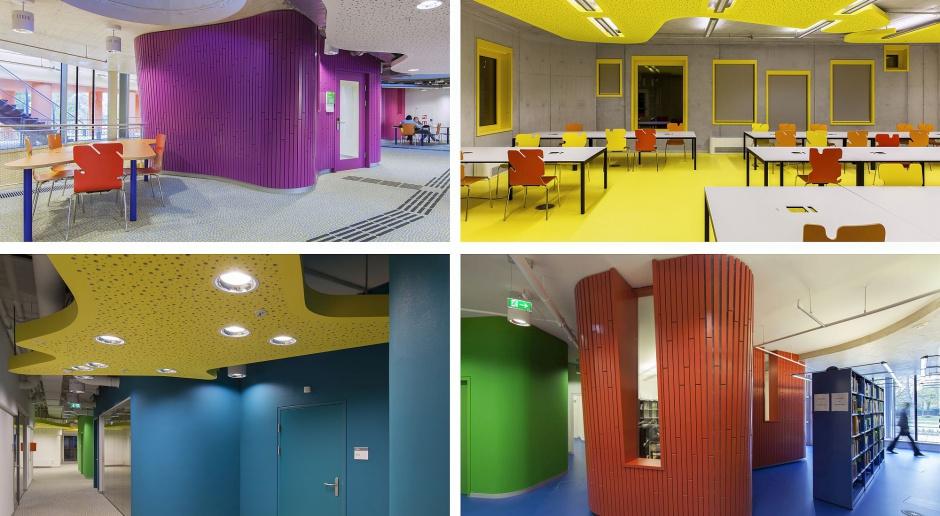 W takich wnętrzach chce się studiować. Inspirujący i designerski projekt CRAB Studio