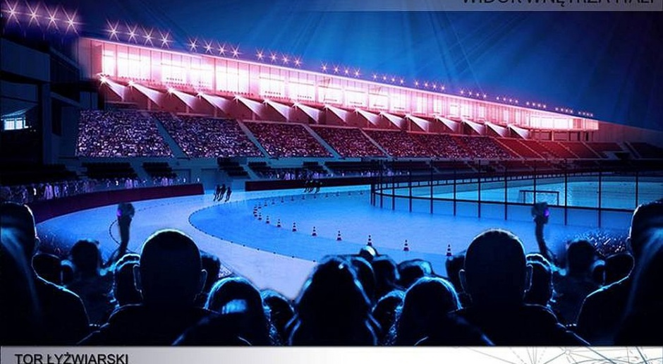 Tak będzie wyglądał nowy tor łyżwiarski Stegny