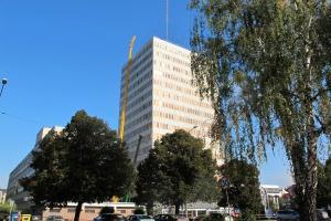 Spektakularny montaż na dachu Lubuskiego Urzędu Wojewódzkiego