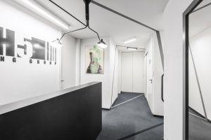 Minimalizm, monochromatyczność - zobacz biuro projektu Modelina Architekci