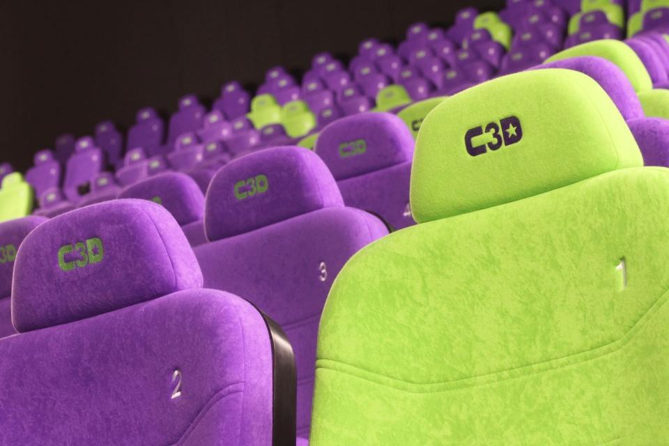 Kino Cinema 3D w Galerii Tarnovia. Design od Formacja Projekt