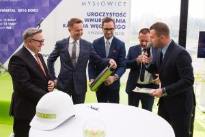 Real2B wmurowało kamień węgielny pod Quick Park Mysłowice