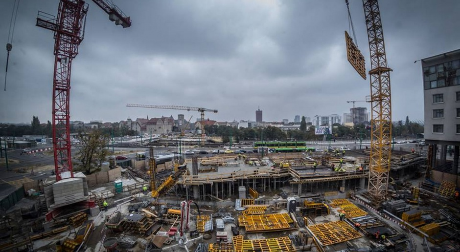 Najnowsze zdjęcia z budowy biurowca Bałtyk w Poznaniu