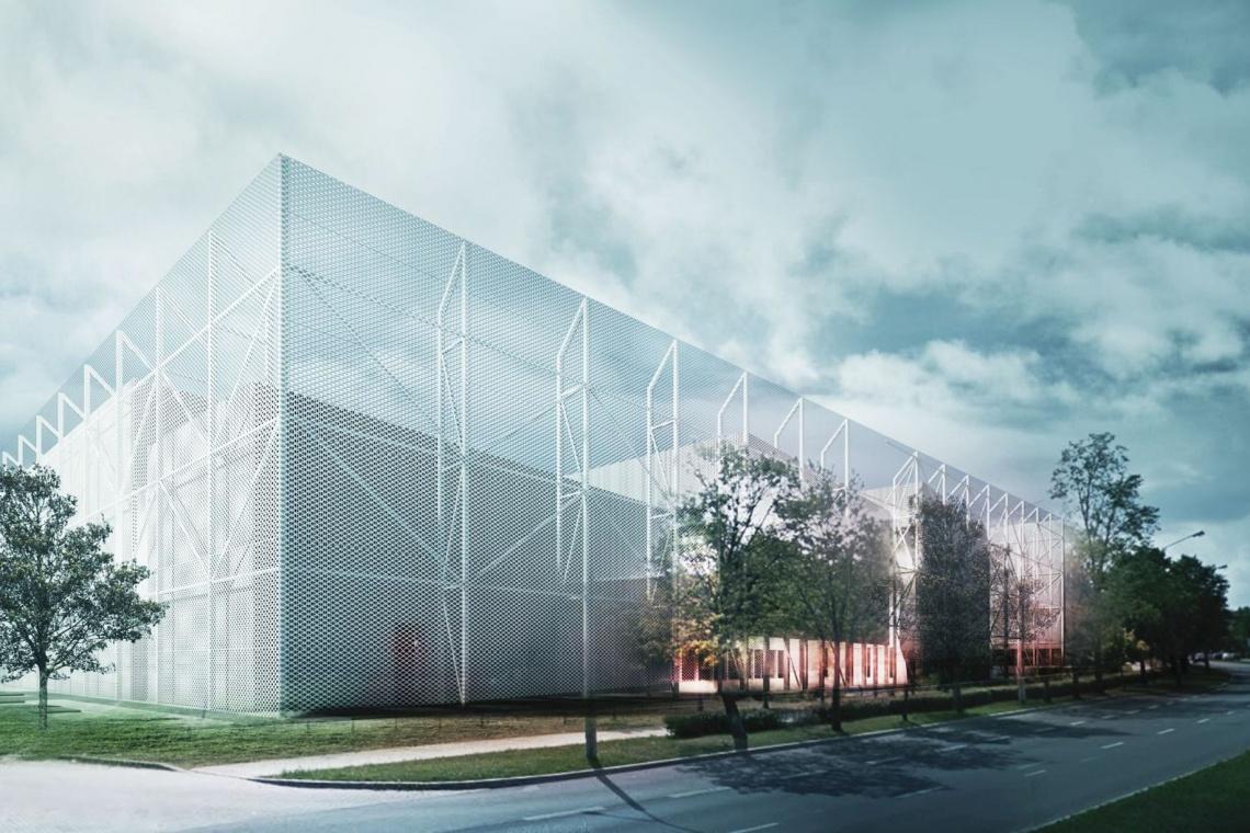 Taki pomysł na halę sportową miała Grupa 5 Architekci