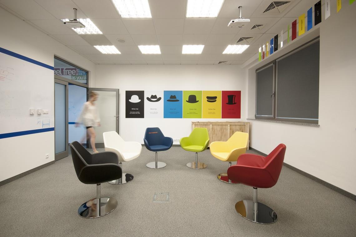Kolorowe i energetyczne - takie jest biuro Trans.eu