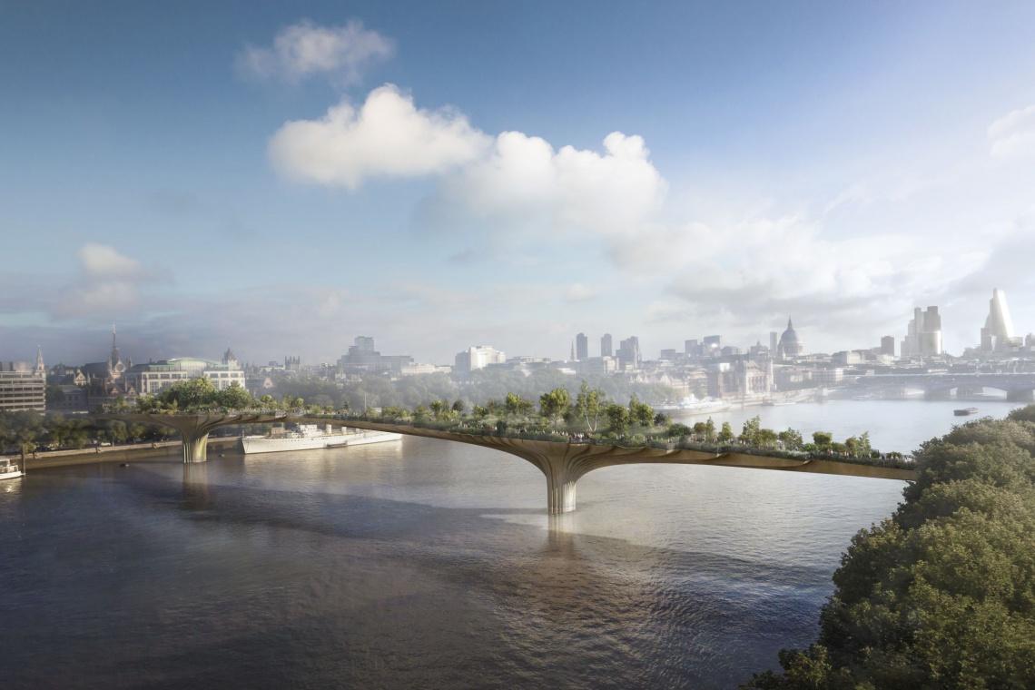 Garden Bridge w Londynie - tak się projektuje mosty piesze