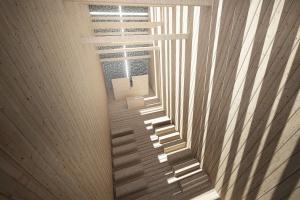 Unikalny projekt BXBStudio - drewniany kościółek zrębowy