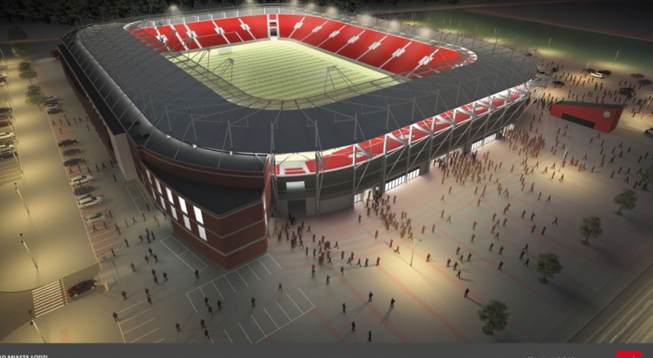Stadion Widzewa prawie gotowy. Czerwona-biała trybuna zachwyci?