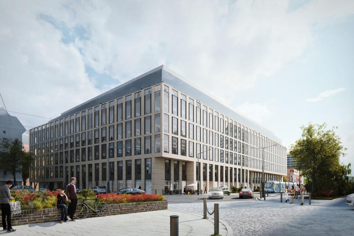 Nobilis Business House projektu DDJM z wiechą
