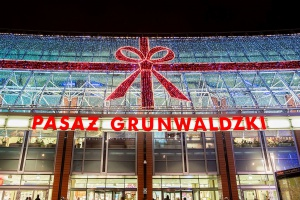Pasaż Grunwaldzki w świątecznej odsłonie