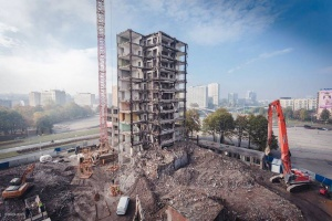 Medusa Group projektuje dla TDJ - trwa rozbiórka w Katowicach
