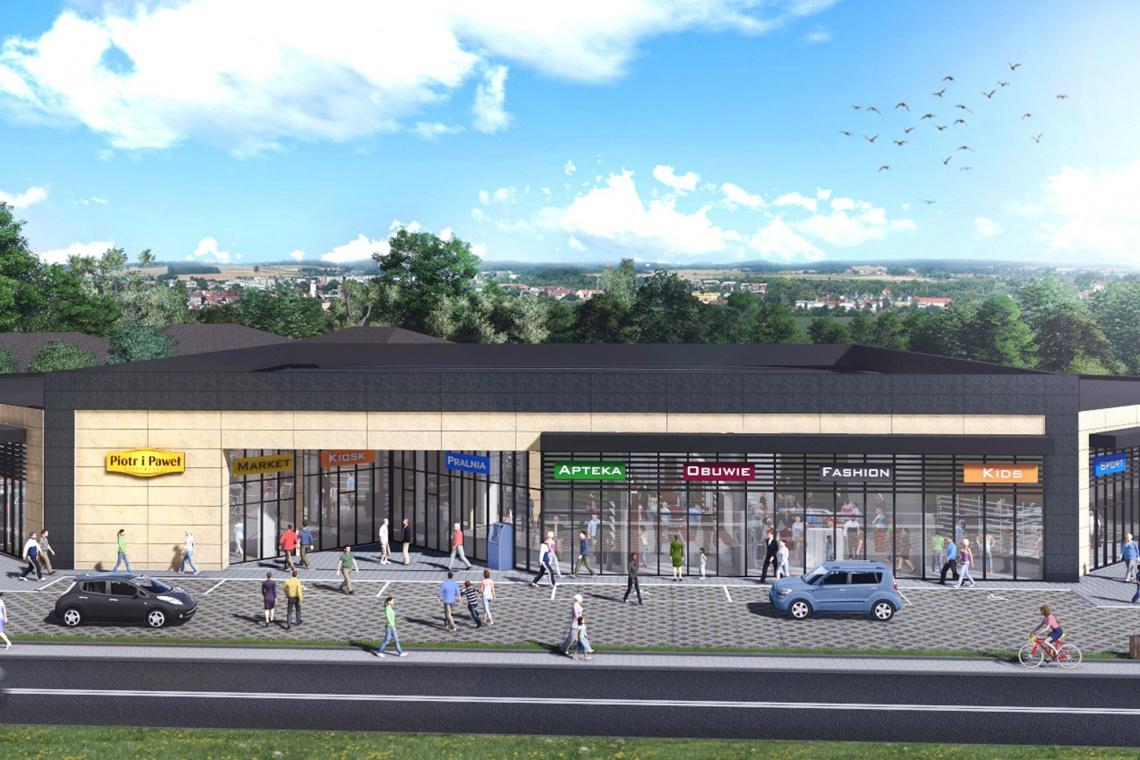 Park handlowy w Józefowie według projektu APAVia