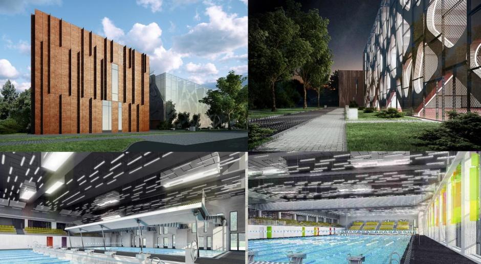 Hala sportowa i basen olimpijski od Kontrapunkt-V-Projekt
