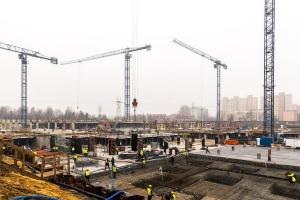 Postępy na budowie Galerii Północnej w Warszawie