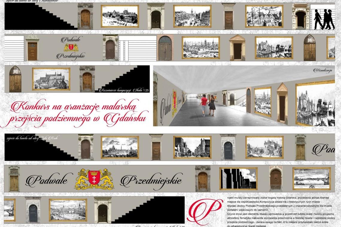 Mural zainspirowany historią Gdańska