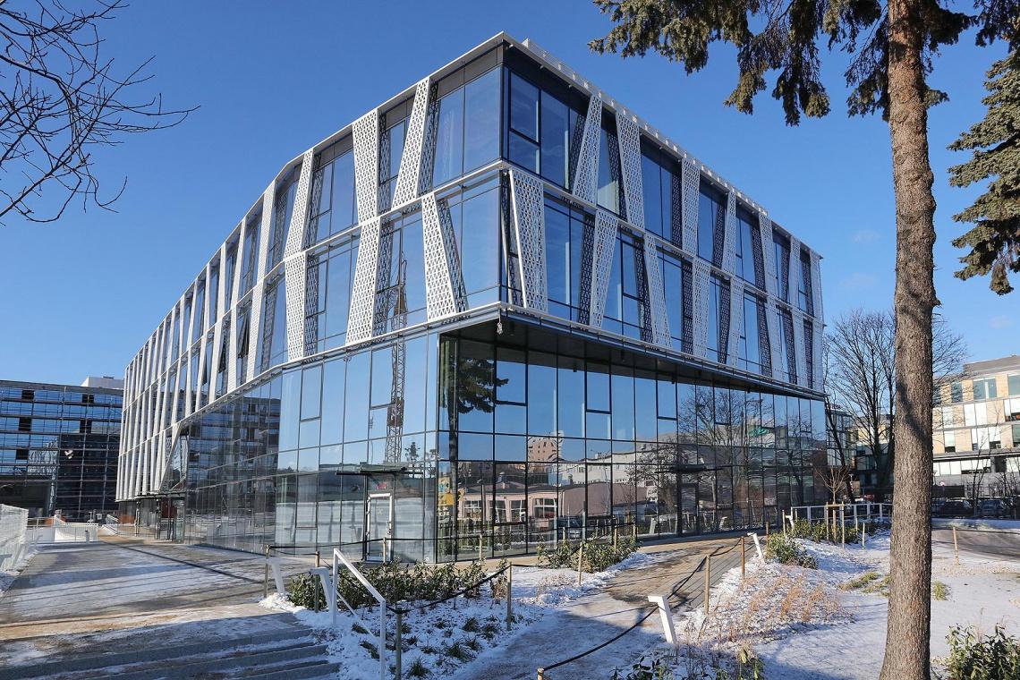 Najnowsze zdjęcia z budowy biurowca w kompleksie Tensor
