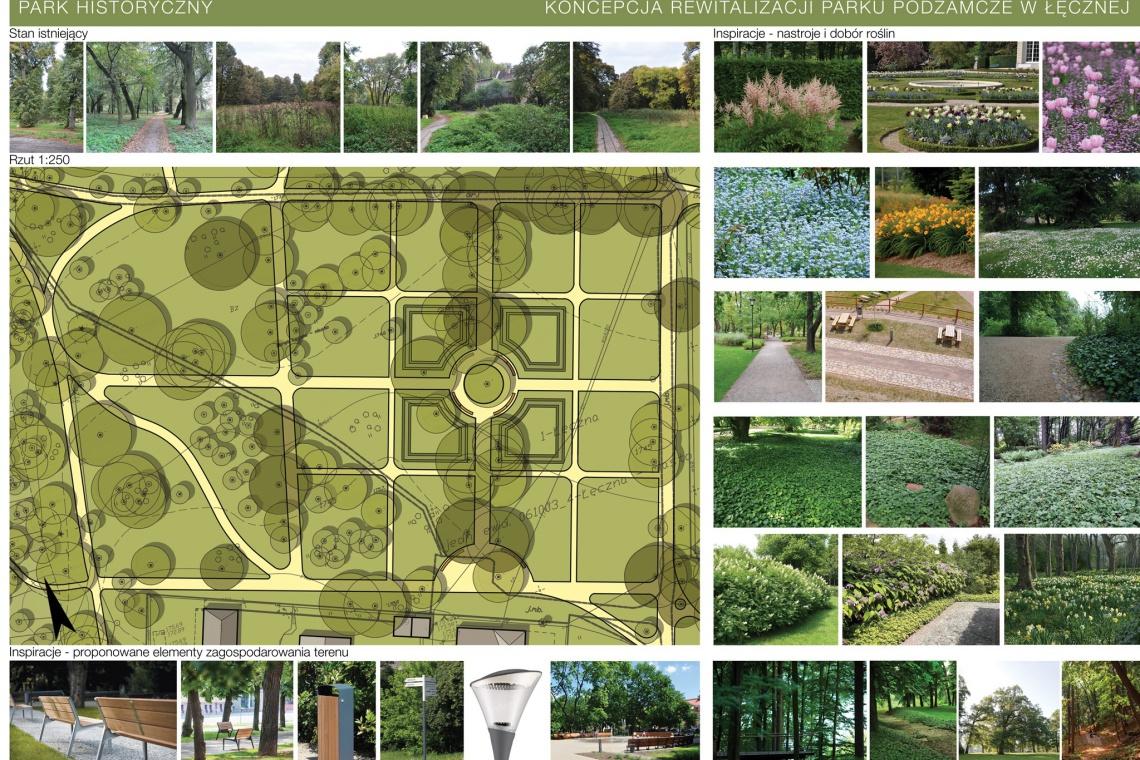 Park Podzamcze w Łęcznej odmieni pracownia Kanska